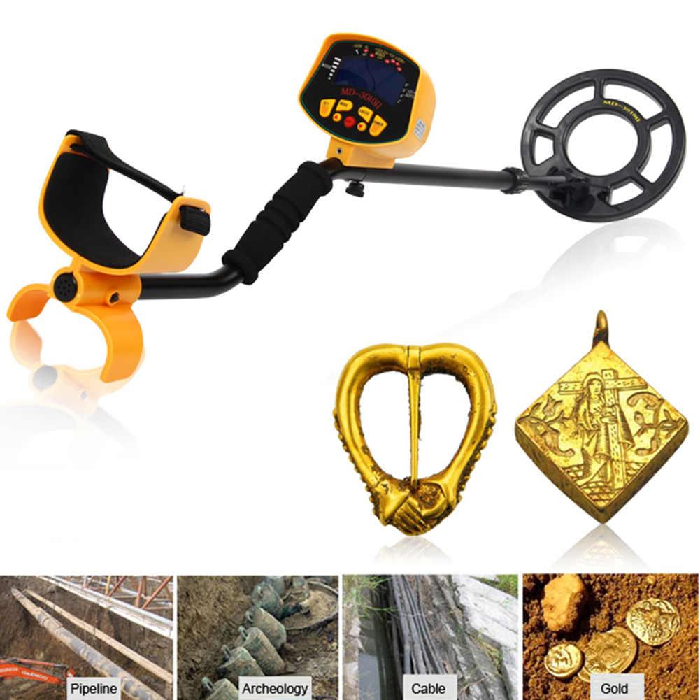 Détecteur professionnel de métaux, écran LCD, haute sensibilité, cibles profondes, outils de recherche de trésors en or