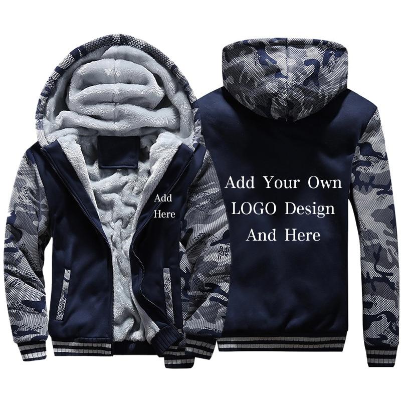 Us 24 49 50 Off Customized Logo Men Hoodies Sweatshirts Personalized Printed Coat Design Diy Mens Custom Jackets Us Size Coats Drop Shipping In