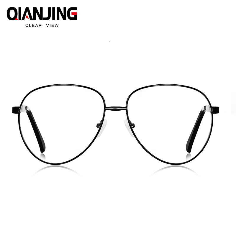 5ad7d40ce1 QianJing Fashion Oversized Sunglasses Transparent HD Lens Optical Glasses  Frames for Women Men Vintage Alloy Big Frame Eyewear-in Eyewear Frames from  ...