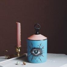 Прекрасный дизайн большая банка для глаз руки с крышками керамические декоративные банки подсвечник для хранения банок домашняя декоративная коробка для макияжа