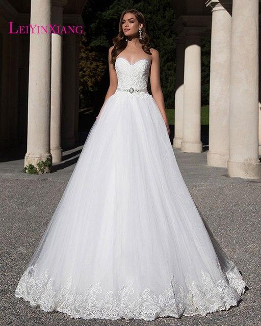 Elegant Wedding Dresses 2017 Modern Sexy Ball Gown Appliques