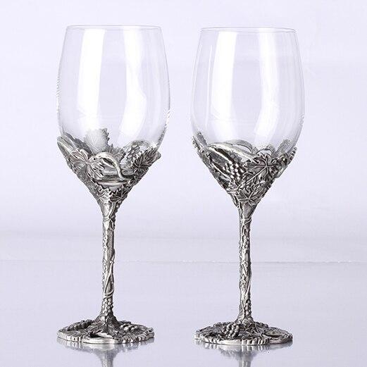 Regalo di qualità dell'annata di modo di cristallo wedding set regalo di latta decorazione di raffreddamento di vino hanap bicchiere di vino