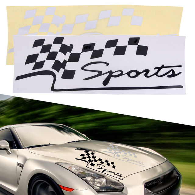 Online Shop CITALL Car Body Racing Checkered Flags Sport Styling - Checkered flag audi
