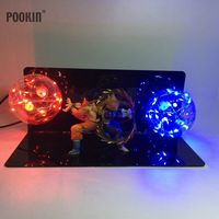 Dragon Ball Son Goku and Vegeta Bombs Luminaria Led Color Night Light Holiday Gift Room Decorative Led Lamp In EU US Plug