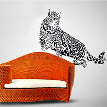 IDFIAF Wall Sticker Decal Stickers Home Decor Animal PVC Vinyl Paster  Removable Art Mural Leopard Print Carve Sticker Part 76