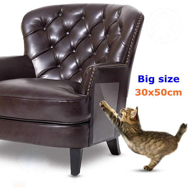 Cat Scratch Couch Guard Claw Protector Self-adhesie Protect Pad Cat Scratching Furniture For Leather Chair Recliner Protect