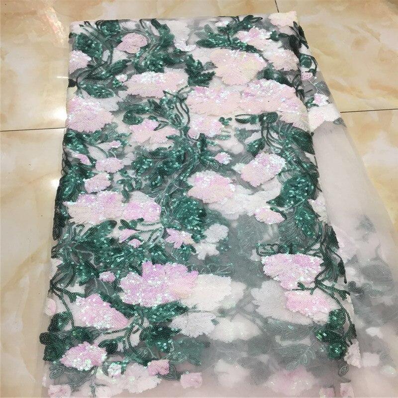 2019 Nuovo Disegno Francese Netto Tessuto Del Merletto Del Sequin 2019 Ultima Sequenza Africano Tessuto di Pizzo Con Ricami di Tulle Tessuto-in Pizzo da Casa e giardino su  Gruppo 3