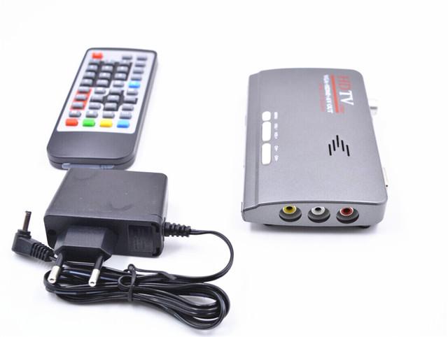 1080 P HD MPEG-4 H.264 Receptor de Satélite Digital DVB-T/T2 Sintonizador de TV A Receber HDMI VGA AV Compatível com CRT e monitores LCD