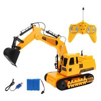 Multifunctional Remote Control Engineering Vehicle Simulated Crawler Excavator Toy With Music Light Car Model