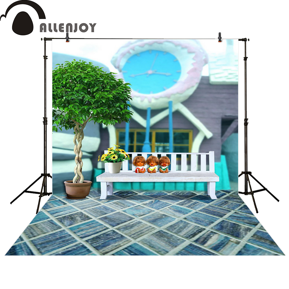 Allenjoy photography backdrop three child chair flower clock tree photo studio photocall background original design allenjoy photography backdrop library books student child newborn photo studio photocall background original design