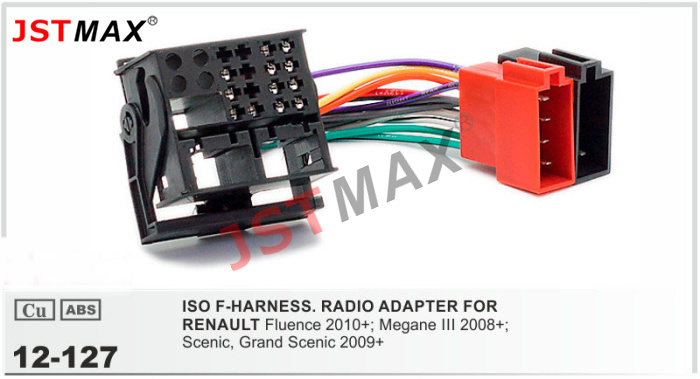 JSTMAX car DVD Radio stereo ISO cable Adapter for RENAULT Fluence Megane III Scenic Grand Scenic?resize=665%2C360&ssl=1 renault megane 3 radio wiring diagram the best wiring diagram 2017 renault kangoo radio wiring diagram at soozxer.org