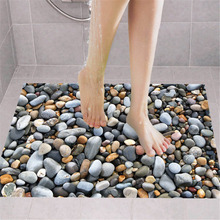 3D PVC Waterproof Floor Sticker Removable Cobblestone Wall Stickers Home Bedroom Bathroom Wallpaper Decoration Accessories цена 2017