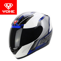 2017 Summer New YOHE Full Face Motorcycle Helmet ABS Motocross Motorbike Racing Helmets Of PC Lens