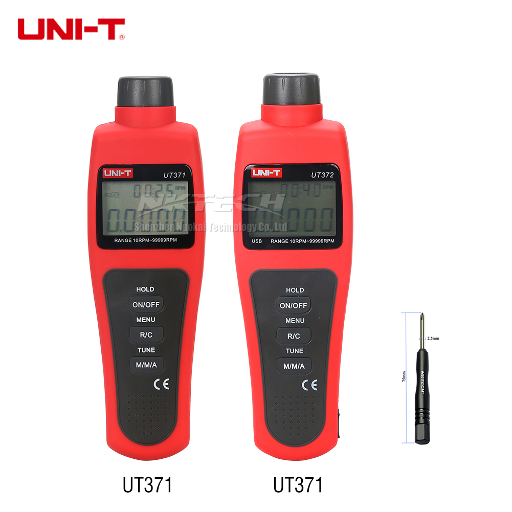 UNI-T UT373 UT372 UT371 Digital Tachometers Non-Contact Target RPM Test Distance 5-20cm USB Interface Data Hold Auto Power Off