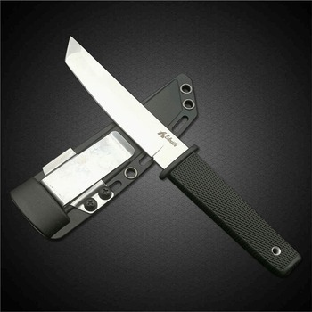DuoClang Cold Steel Hunting Fixed Blade Knife 440 Stainless Steel Long Kraton Plastic Handle Outdoor Tactical Knife ABS Sheath