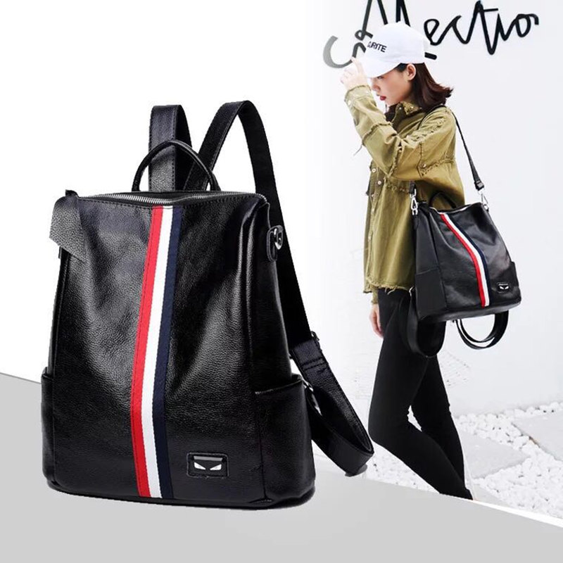 Most popular 2018 fashion women's backpack teen girls high-quality youth leather backpack women's school shoulder bag backpack m m teen легинсы