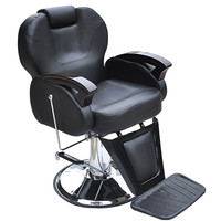 Shellhard Adjustable Barber Salon Chair Fashionable Hydraulic Reclining Barber Styling Hairdressing Chair Black