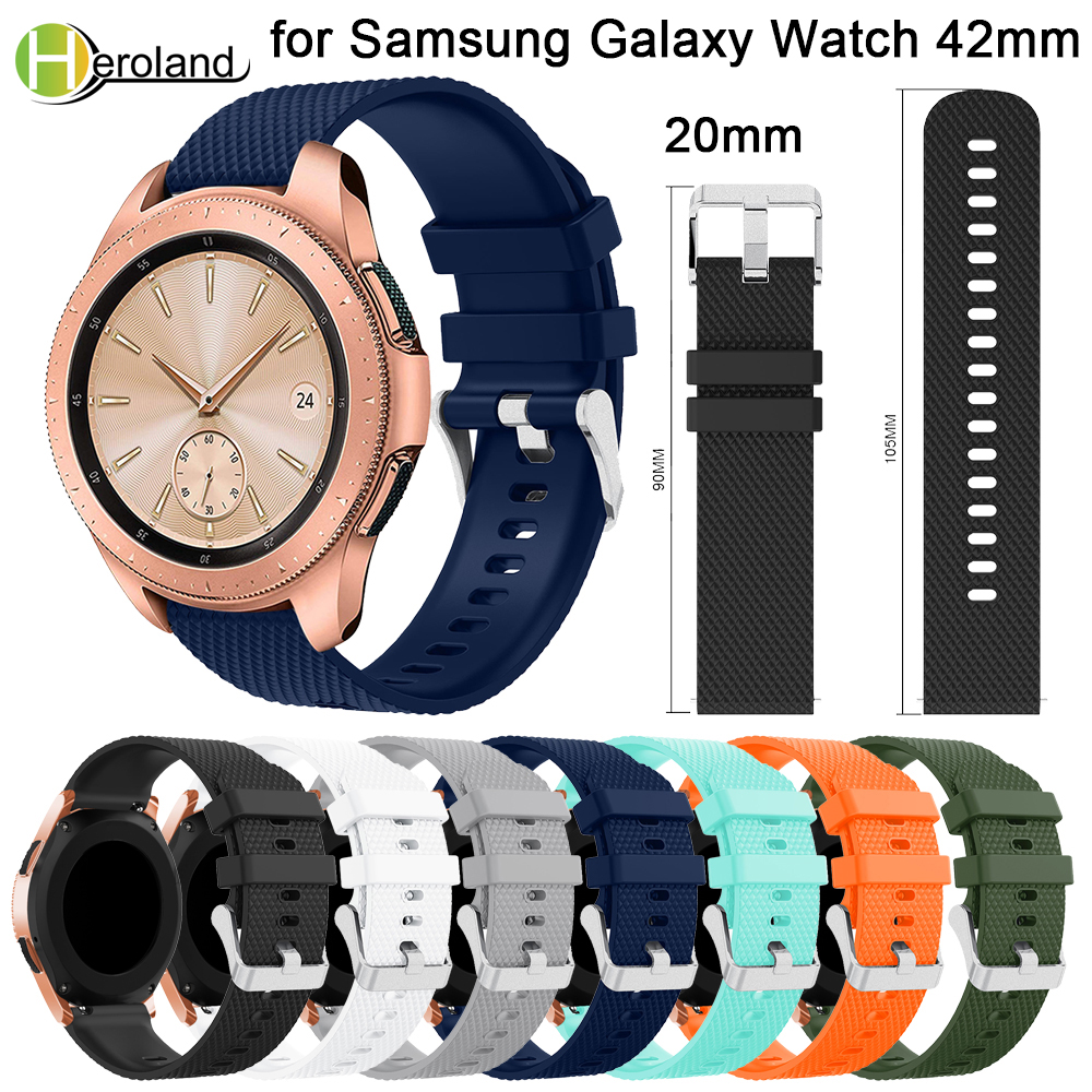 20mm watch strap Silicone for Samsung Galaxy Watch 42mm band smart strap Replacement band For Samsung Gear sport S2 Accessories 20mm watch strap Silicone for Samsung Galaxy Watch 42mm band smart strap Replacement band For Samsung Gear sport S2 Accessories