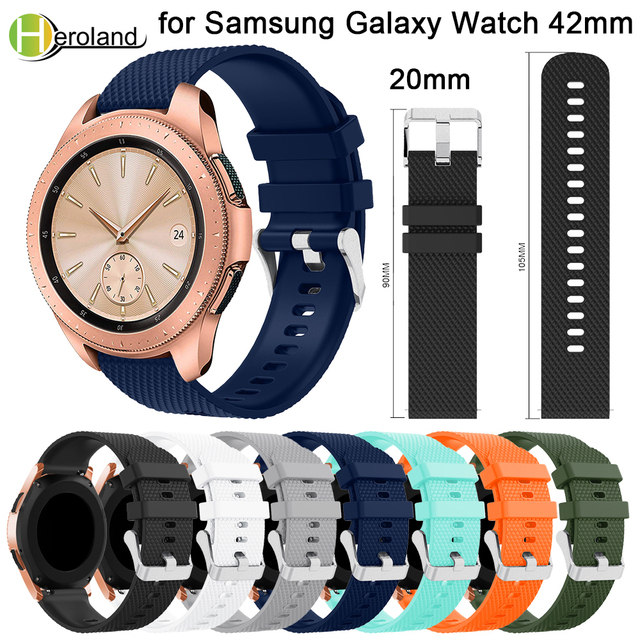 20mm watch strap Silicone for Samsung Galaxy Watch 42mm band smart strap Replace