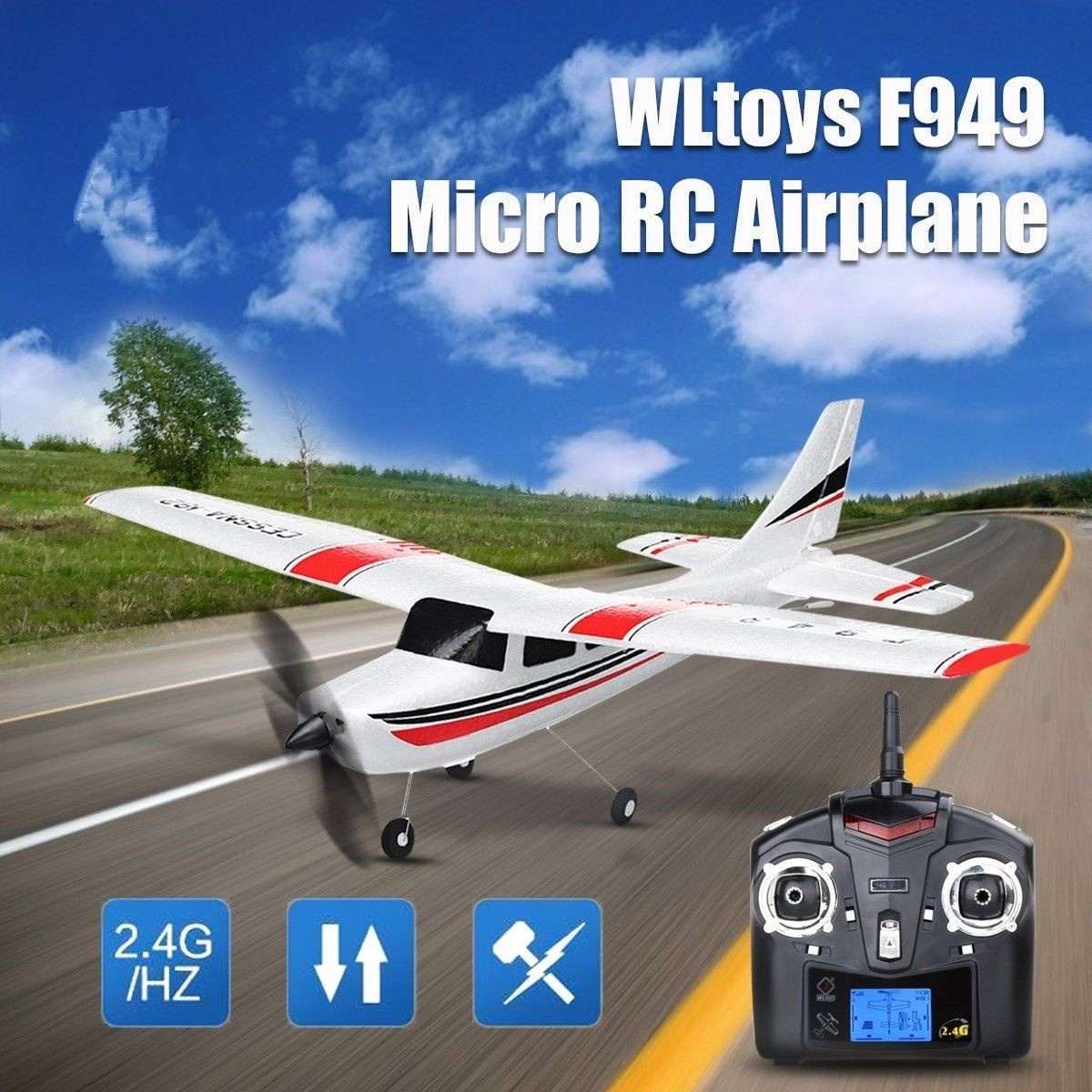 Radio Control 2.4G 3CH Fixed Wing Plane Outdoor Long Distance Rubber Plane Remote Control RC Airplane Toy