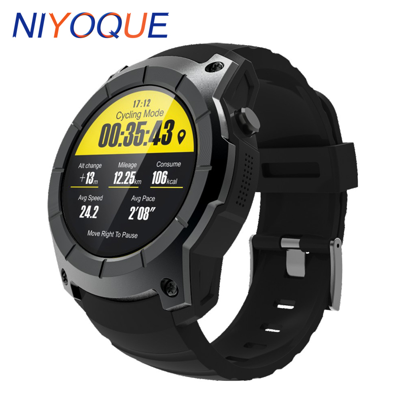 NIYOQUE NY958 GPS Outdoor Sports Smart Watch IP66 Life Waterproof Heart Rate Monitor Altitude Meter Pressure Multi-sport Model s928 gps outdoor sports smart watch men wristband waterproof heart rate monitor altitude meter for android ios vs gt08 dz09