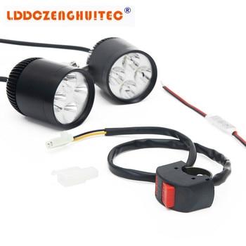 LDDCZENGHUITEC 35 W 7000LM LED Impermeabile Illuminazione Moto Lampada Ausiliaria Chip Di Kit Faro Luce Anteriore Del Motociclo Kit