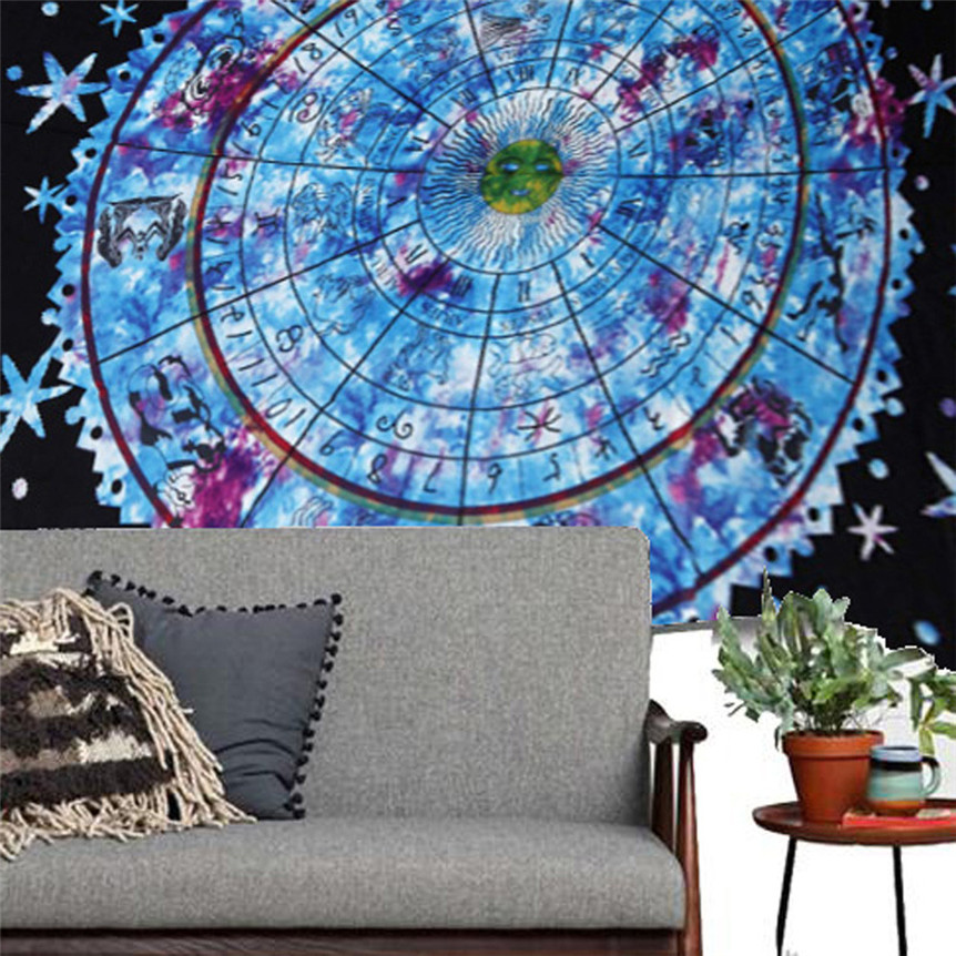 Cycle Zone Lovely Multicolor Polyester Round Mat For Beach Pool Towel Blanket Table Cloth Yoga 150cm*210CM drop shipping 0621