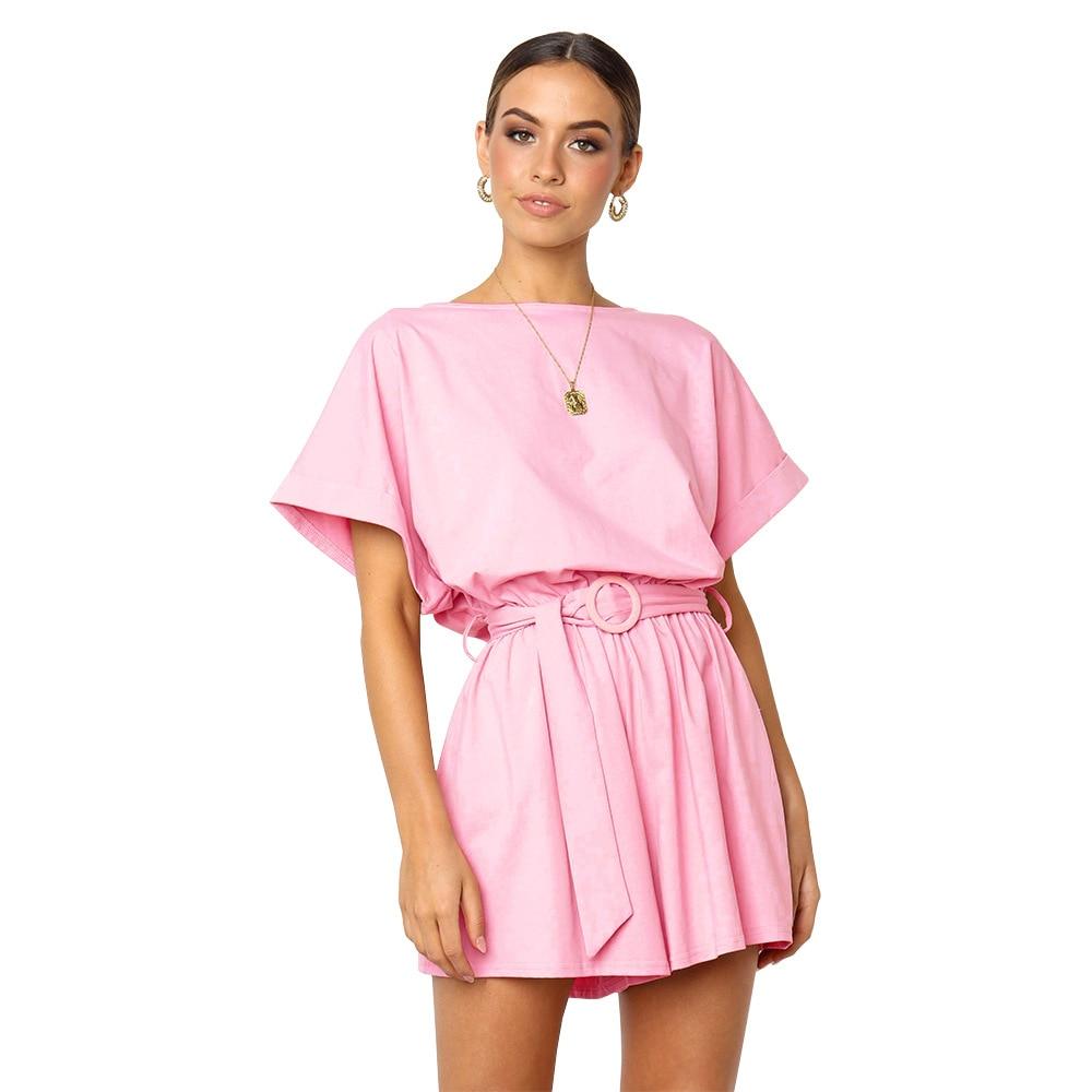 Women Playshits 2019 Spring Summer Jumpsuits Cotton linen Casual Loose Jumpsuit women Plus size Sports