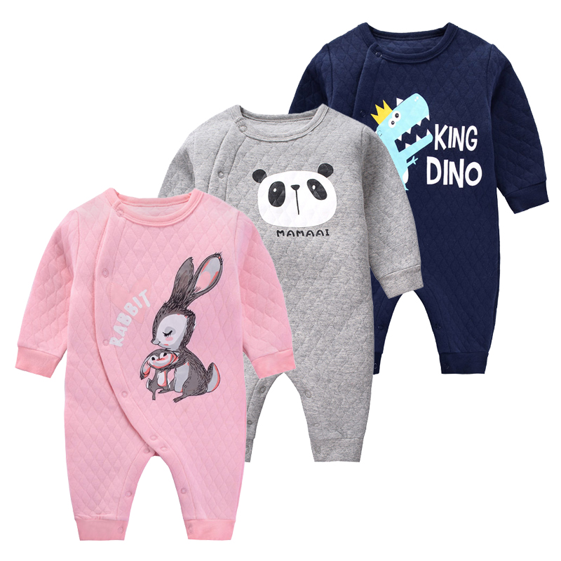 2019 New Born Climb Clothes Baby Autumn Warm   Rompers   Long Sleeve Cotton Winter Jumpsuits For Girl Infant Animal Costumes Pajama