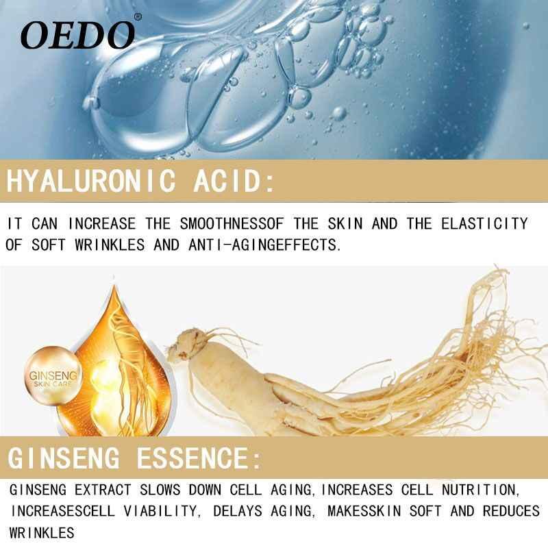 Asam Hyaluronic Ginseng Baik Kondensat Krim Mata Halus Terang Mulus Herbal Ekstrak Ginseng Anti-bengkak Gelap Lingkaran Serum