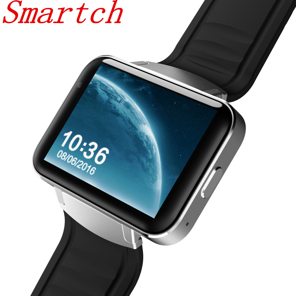 Smartch DM98 smart Watch Android 4.4 Smartwatch Phone Bluetooth 4.0 MTK6572 2G 3G Wristwatch WiFi 512MB 4GB GPS Watch PK LEM4 domino dm98 3g smartwatch phone