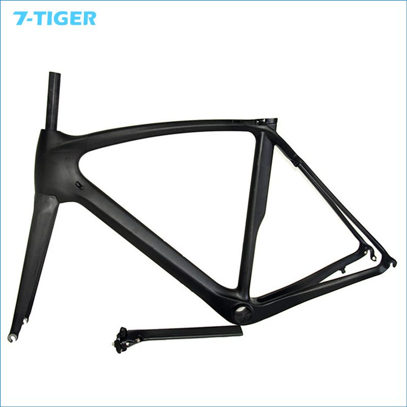 7-TIGER Best Selling Full Carbon Frame , Carbon Bike Frame Bicycle Road frame racing carbon bike frame with Fork Headset