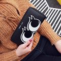 New Arrival Cartoon Embossing Women Long Wallet Lady Zipper Standard Wallet Cute Eyes Design Female Money Clip PU Purse