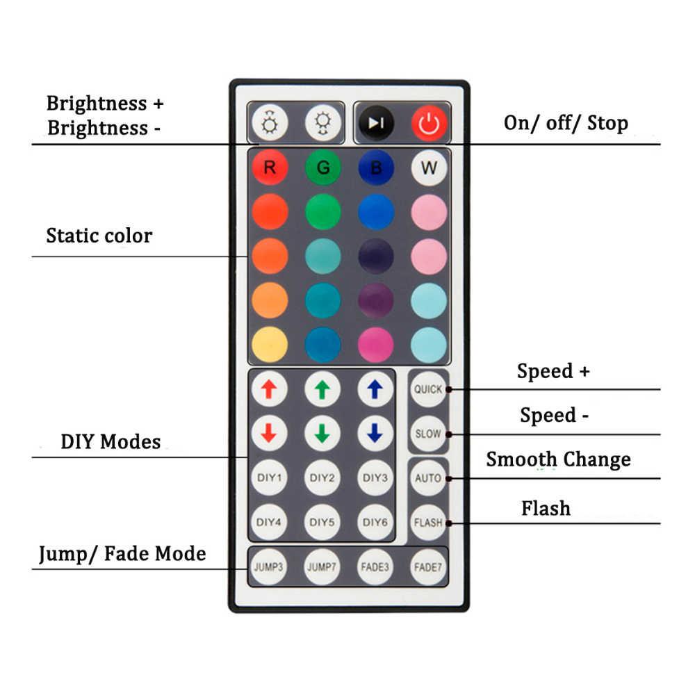 Controlador de led 44 teclas led ir rgb controler led luzes controlador ir remoto dimmer dc12v 6a para rgb 3528 5050 led tira