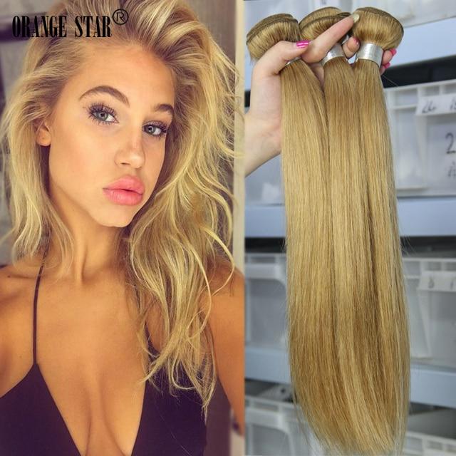 4pcs 7a Honey Blonde Brazilian Hair Weave Virgin Blonde Straight
