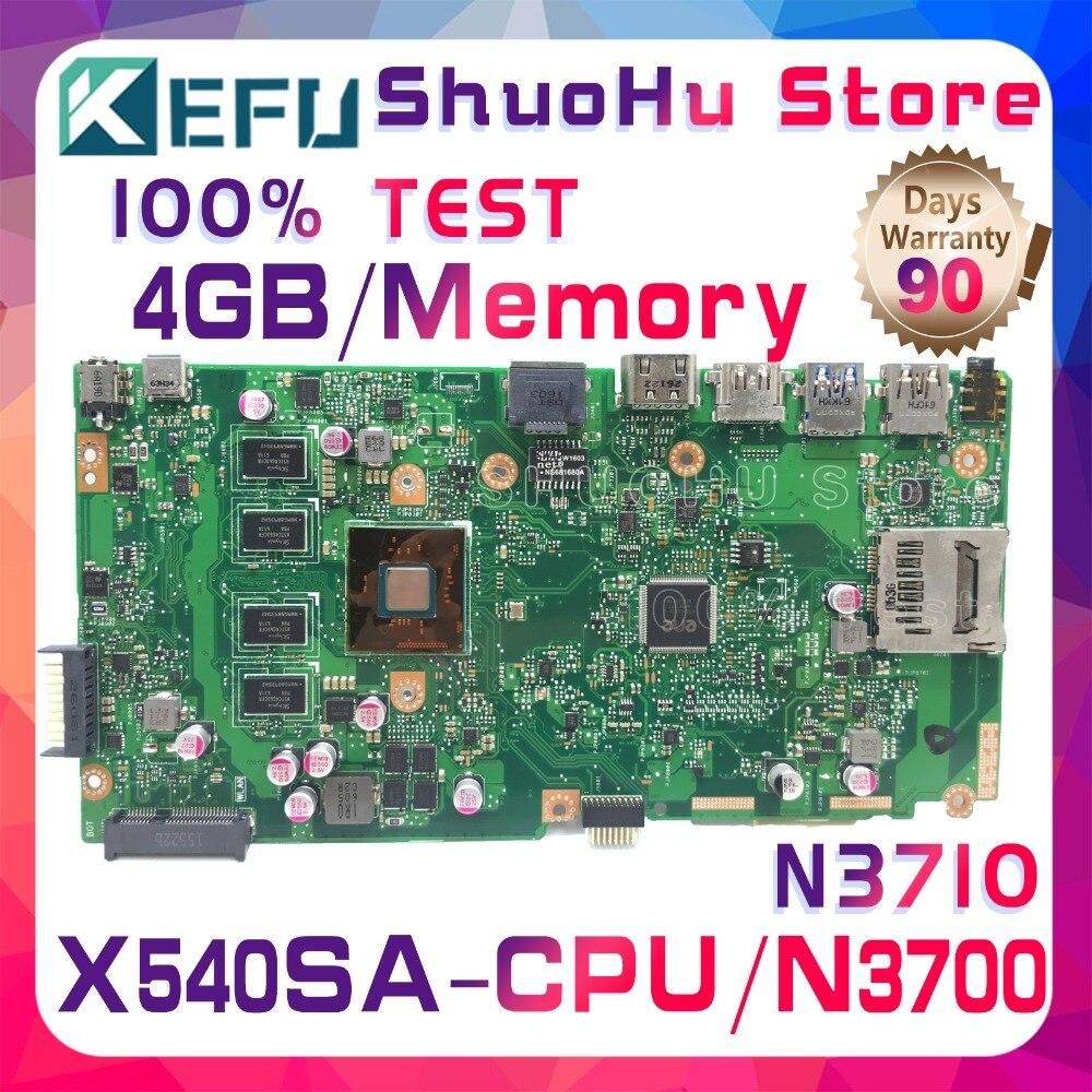 KEFU X540S For ASUS VivoBook X540SA F540S CPU N3700 Memory 4GB Laptop Motherboard Tested 100% Work Original Mainboard