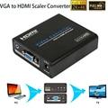 1080 P VGA к HDM Скейлер аналого-Цифровой Аудио Конвертер Видео коробка 4 К x 2 К Для PS3 Портативных ПК TV Box Проектор с Питанием адаптер
