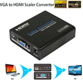 1080P VGA to HDM Scaler Analog to Digital Audio Video Converter box 4Kx2K For PS3 PC Laptop TV Box Projector with Power Adaptor
