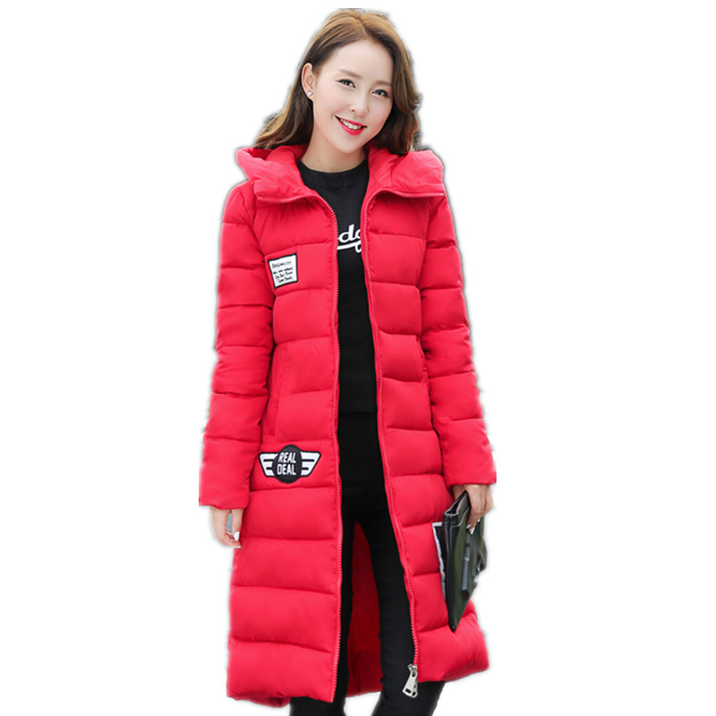 2016  New Fashion Winter Down coats Women's Hooded X-Long Down Jacket Women Thickening Thermal Warm Down Coat Female LD218