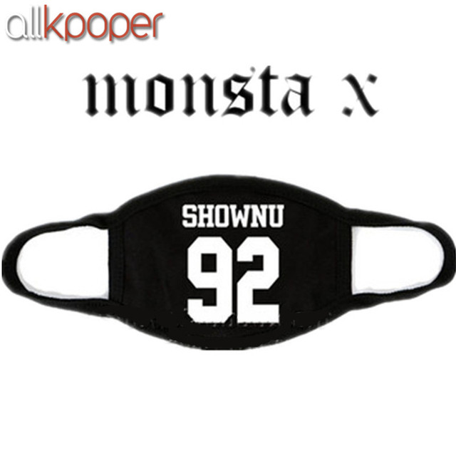 ALLKPOPER Kpop MONSTA X Mask Cotton Mouth HYUNGWO Face Muffle I.M SHOWNU WONHO MINHYUK 3