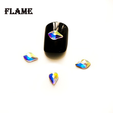 1A2553 5X8mm Leaf Shape 3D Nail Art Jewelry Handcrafts DIY Design Decorations Crystals AB Color Rhinestones