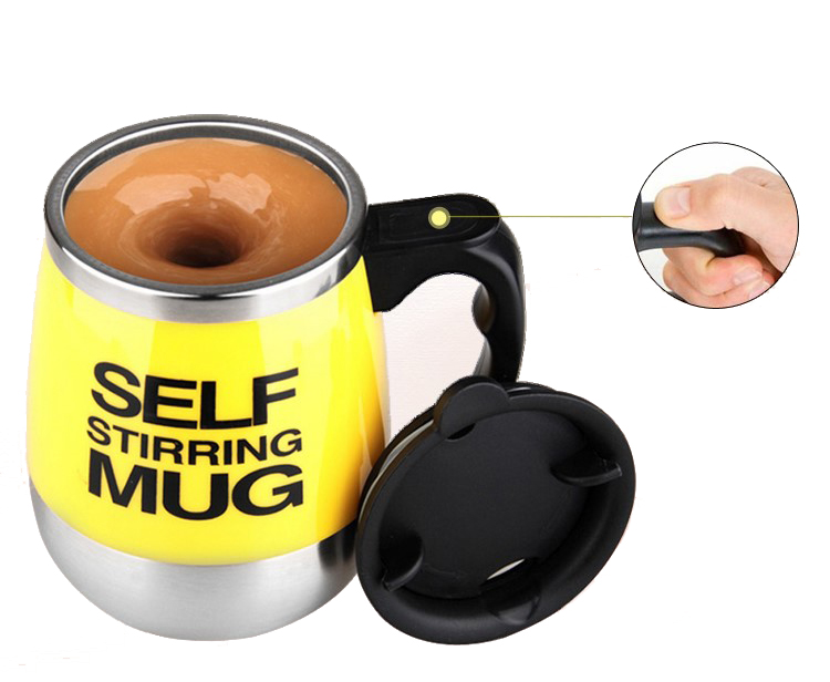 Stainless Steel Self Stirring Mixing Mug Protein Shaker Multifunction Smart Mixer Blender Cup Automatic Electric Coffee Mugs (2)