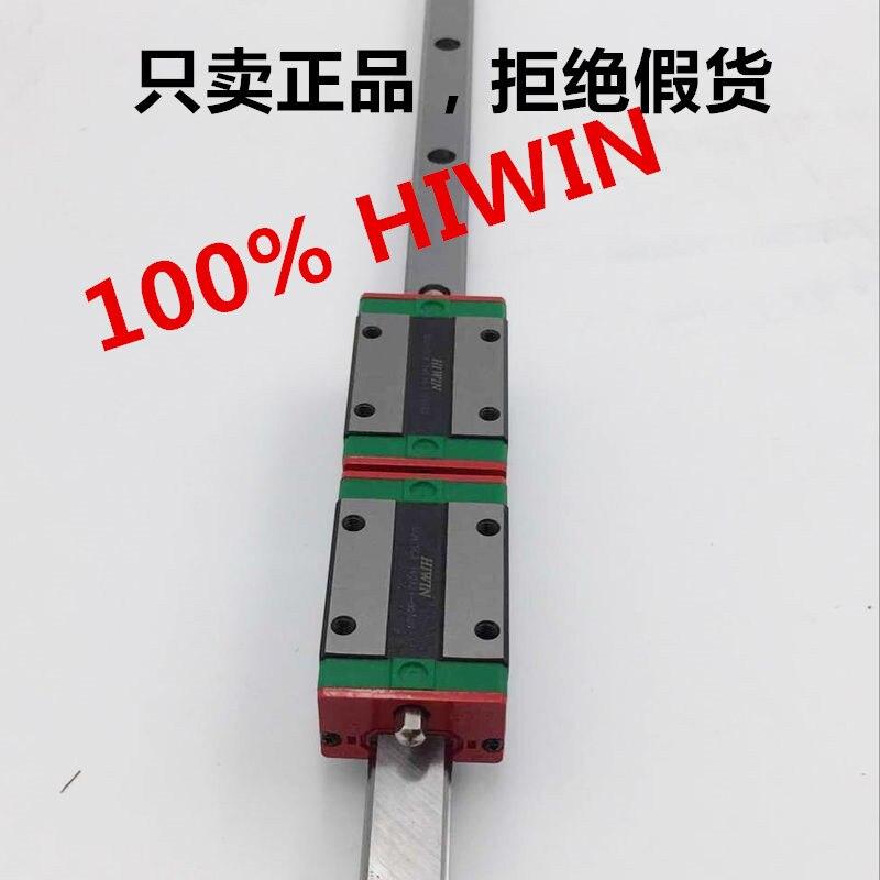 2PCS Linear Rail HIWIN HGR20 L1500mm With 4pcs HGH20CA Guideway Block Carriages original 2pcs lot hiwin linear rail carriage hgh20ca match with hgr20 guideway