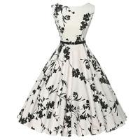Dropshipping GK Polka Dots Audrey Hepburn Women Vintage Retro 50s 60s Dress Rockabilly Pin Up Swing