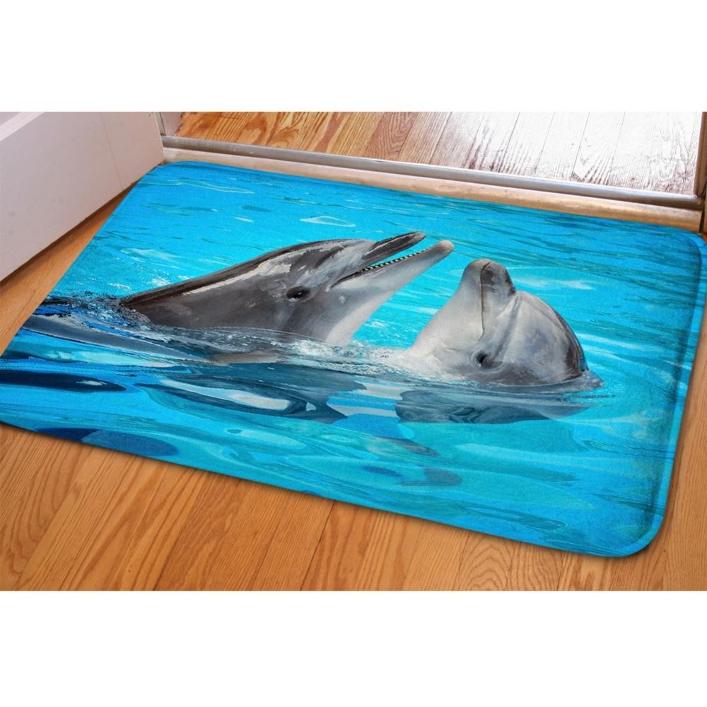 HUGSIDEA Teppiche 3D Kühlen Tier Delphin Druck Hause Boden Teppich ...