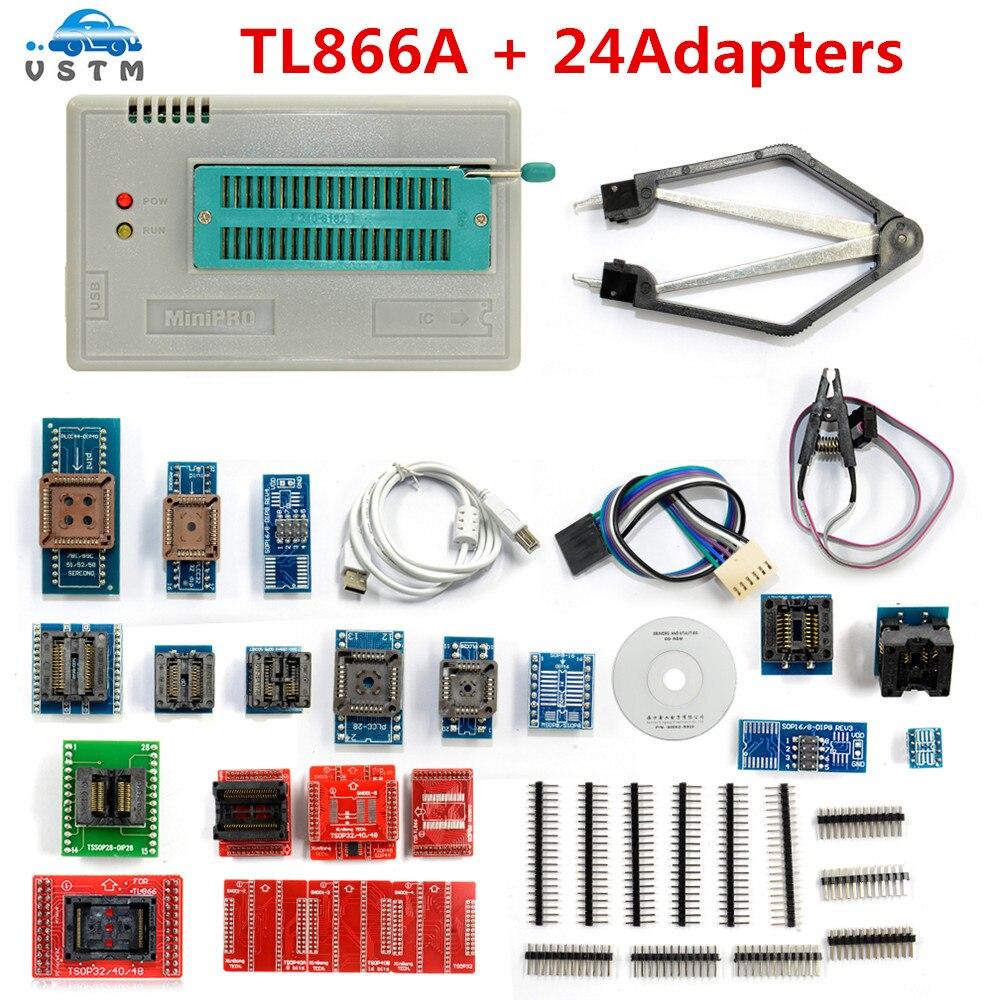 Produs V66 Original Tl866a Universal Minipro Programmer 24 Adapters Atmel Usb Circuit Zif Socket Usbasp Atmega8 4 My Language