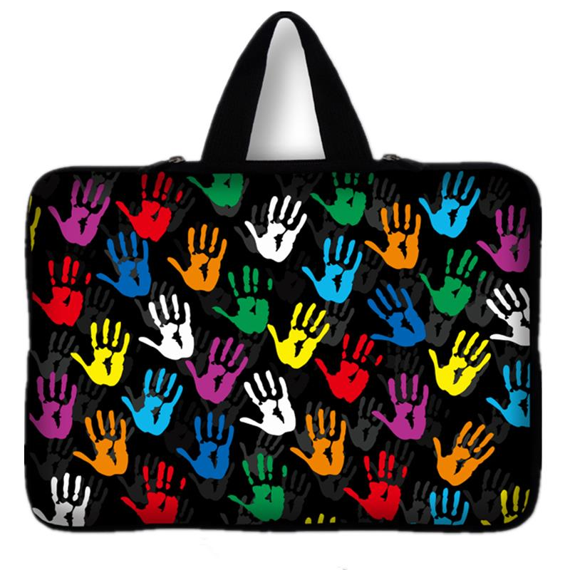 Hand Print laptop bag for men notebook smart cover bag for 7 10 11.6 14.4 inch F