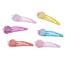 Wholesale Mix Color Styles apple shape cute Cartoon Assorted Lovely Kids Girls resin Hairpin Clips Hair clip Accessories