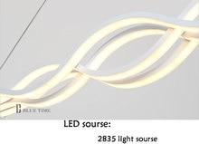 Wave design Chandelier for dinning room Black White chandelier lights modern chandelier led lighting AC 85-260V 100CM 120CM
