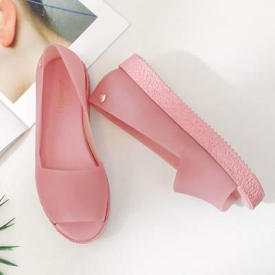 Mode Bouche Chaussures Étudiants rose Pour 2 Plage Noir Dame rouge black Gelée Nouvelle Voyage Bowtie Bonbons De Pluie Plat Femmes Sandales bleu D'été Poissons Femme eWdxBQorC